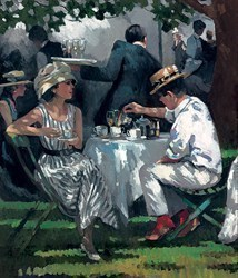Afternoon Tea by Sherree Valentine Daines - Hand Finished Limited Edition on Canvas sized 12x14 inches. Available from Whitewall Galleries